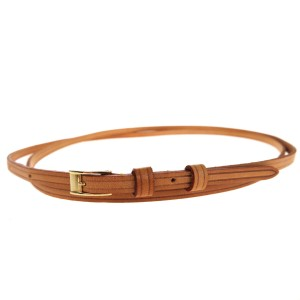 Louis Vuitton LOUIS VUITTON Hand Strap Leather Gold-Tone Brown Accessory