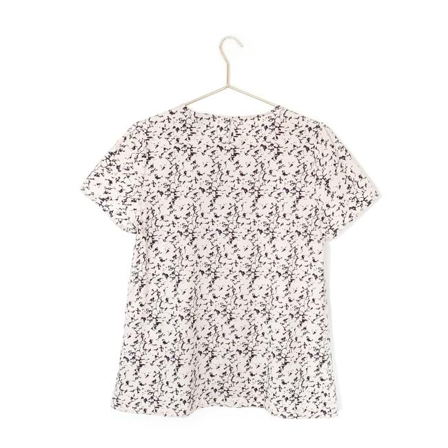 French Connection Print Keyhole Preppy Date Night Top pink, navy Image 1