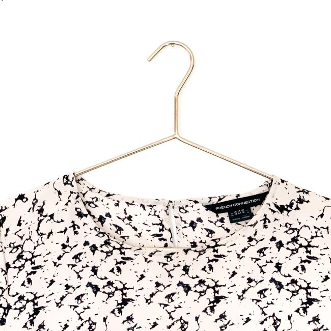 French Connection Print Keyhole Preppy Date Night Top pink, navy Image 5