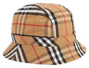 Burberry checked bucket hat large