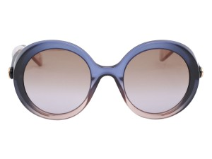 Gucci BLUE GRAY ROUND INJECTION GRADIENT SUNGLASSES