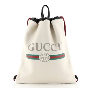 Gucci Drawstring Leather Backpack