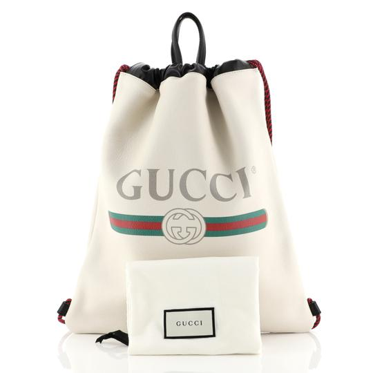 Gucci Drawstring Leather Backpack Image 1