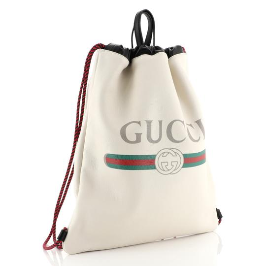 Gucci Drawstring Leather Backpack Image 2