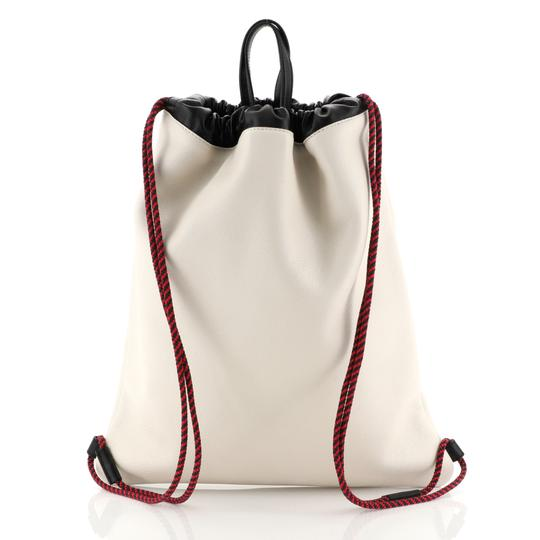 Gucci Drawstring Leather Backpack Image 3