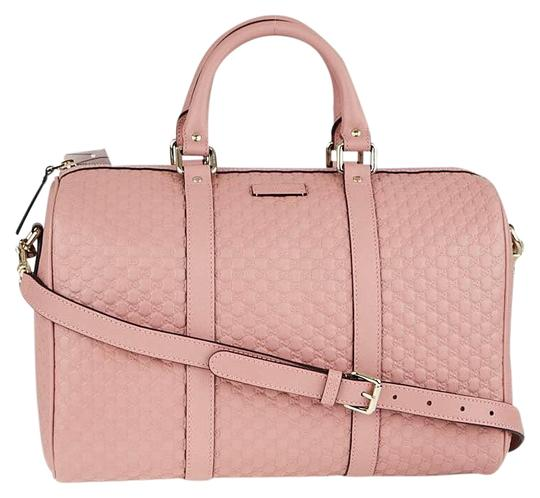 Preload https://img-static.tradesy.com/item/25858580/gucci-boston-bag-gg-guccissima-leather-with-strap-pink-satchel-0-3-540-540.jpg