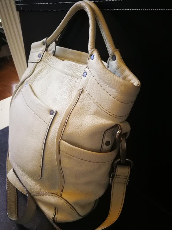 White Leather Cross Body Bag