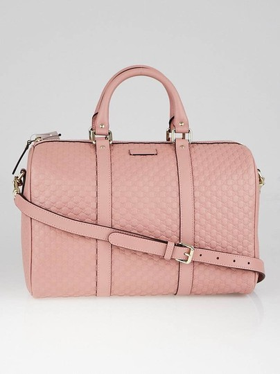 Preload https://item4.tradesy.com/images/gucci-boston-bag-gg-guccissima-leather-with-strap-pink-satchel-25858618-0-2.jpg?width=440&height=440