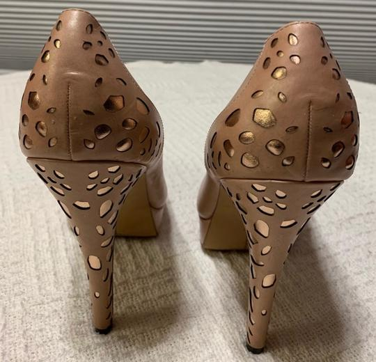Vince Camuto pink with bronze Platforms Image 1