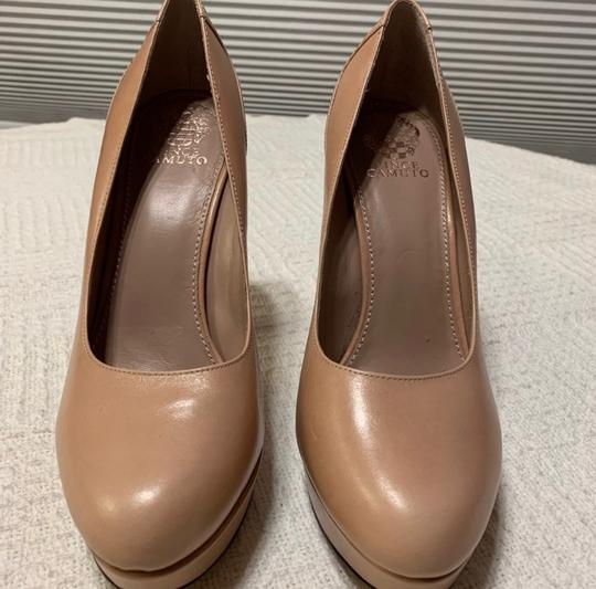 Vince Camuto pink with bronze Platforms Image 2
