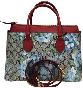 Gucci Satchel in blue/red