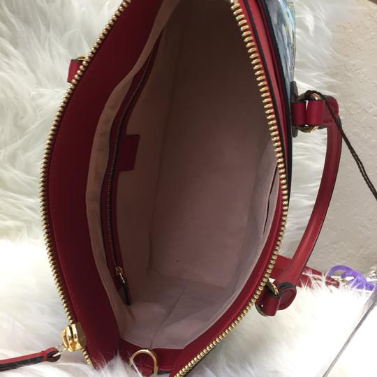 Gucci Satchel in blue/red Image 5