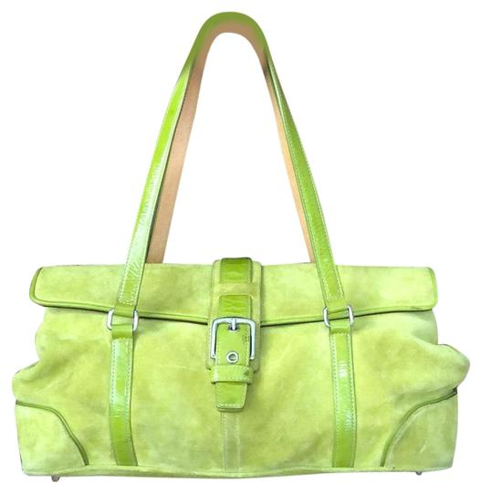 Preload https://img-static.tradesy.com/item/25858769/coach-unknown-green-suede-leather-satchel-0-1-540-540.jpg