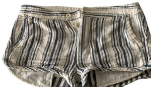 Free People Mini/Short Shorts blue and cream striped