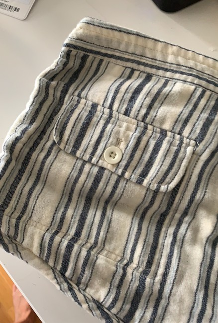 Free People Mini/Short Shorts blue and cream striped Image 2