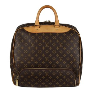 Louis Vuitton Duffle Monogram Vintage Brown Travel Bag