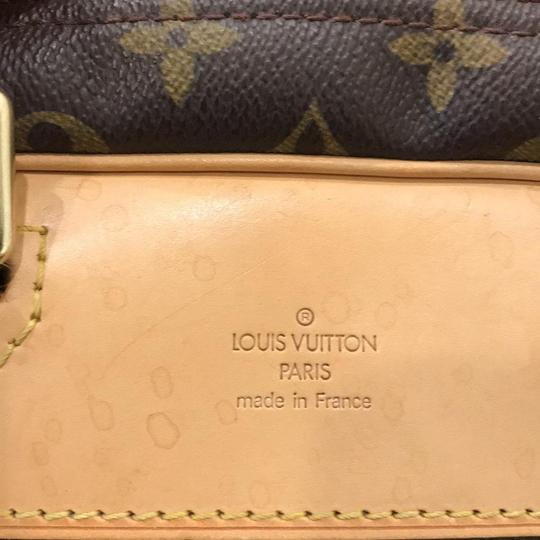 Louis Vuitton Duffle Monogram Vintage Brown Travel Bag Image 11