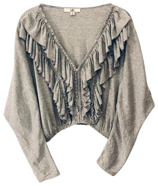 Preload https://img-static.tradesy.com/item/25858859/ya-los-angeles-heather-gray-cropped-cardigan-size-4-s-0-1-650-650.jpg