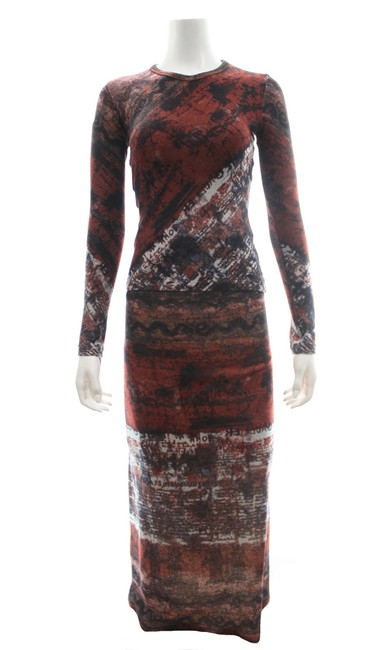 Preload https://img-static.tradesy.com/item/25858930/jean-paul-gaultier-maroon-wool-blend-printed-long-sleeved-top-and-maxi-skirt-suit-size-6-s-0-0-650-650.jpg