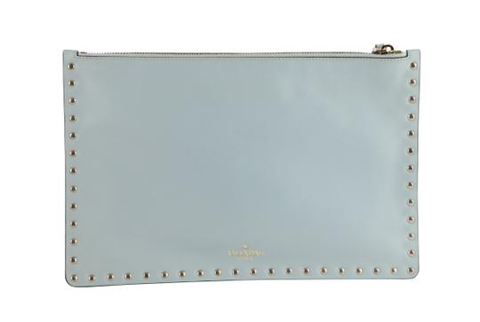 Valentino Leather Silver Hardware Wristlet in Blue Image 2