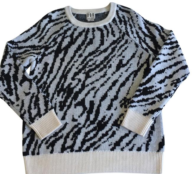 Preload https://img-static.tradesy.com/item/25858984/haute-hippie-printed-crew-neck-black-white-sweater-0-1-650-650.jpg
