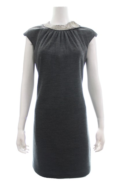 Preload https://img-static.tradesy.com/item/25859029/milly-of-new-york-grey-charcoal-wool-blend-with-rhinestone-neckline-mid-length-cocktail-dress-size-8-0-0-650-650.jpg