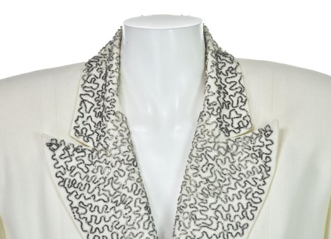Unique Vintage Wool with Silver Beading Evening Image 2