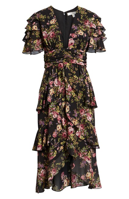Black Tapestry Floral Maxi Dress by WAYF Image 1