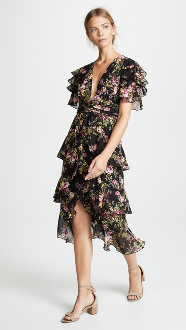 Black Tapestry Floral Maxi Dress by WAYF Image 10