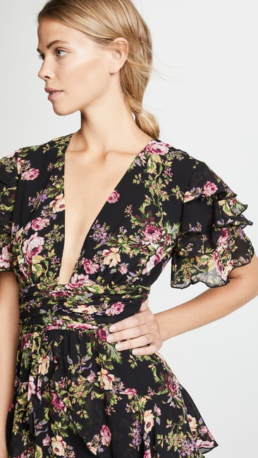 Black Tapestry Floral Maxi Dress by WAYF Image 11