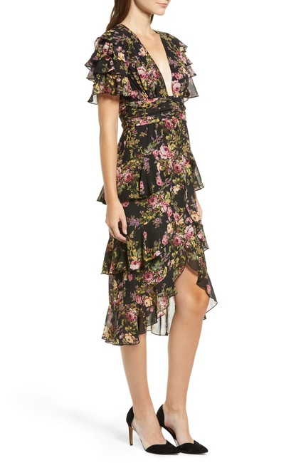 Black Tapestry Floral Maxi Dress by WAYF Image 2