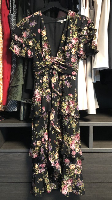 Black Tapestry Floral Maxi Dress by WAYF Image 6