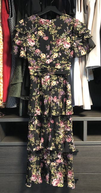 Black Tapestry Floral Maxi Dress by WAYF Image 7