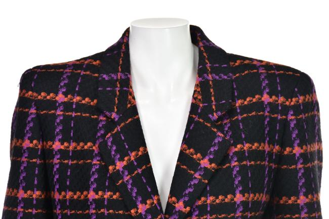 Lillie Rubin Magenta & Orange Windowpane Plaid Wool Image 1