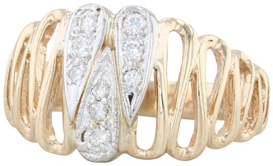 Preload https://img-static.tradesy.com/item/25859217/yellow-gold-21ctw-diamond-statement-14k-size-975-squiggle-teardrop-ring-0-1-540-540.jpg