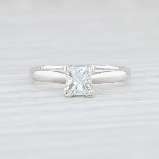 White Gold .72ct Princess Solitaire Diamond - 14k Size 5.5 Engagement Ring Image 1