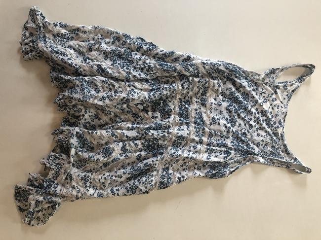 Free People short dress Blue, White Tunic Lace Floral on Tradesy Image 1