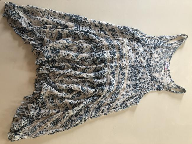 Free People short dress Blue, White Tunic Lace Floral on Tradesy Image 2