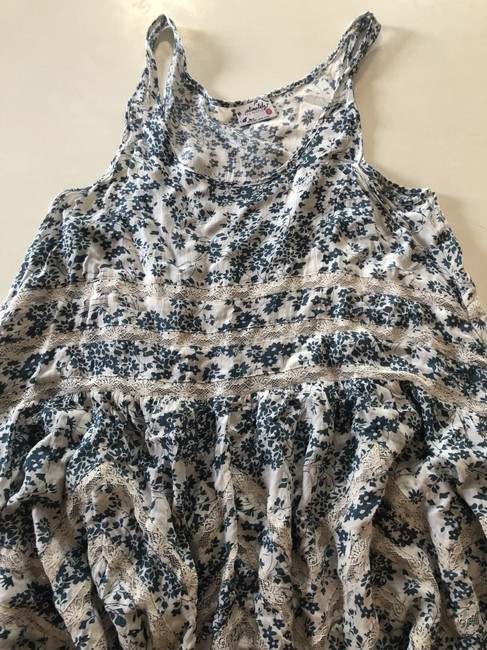 Free People short dress Blue, White Tunic Lace Floral on Tradesy Image 3