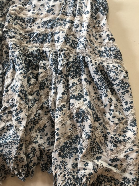 Free People short dress Blue, White Tunic Lace Floral on Tradesy Image 4