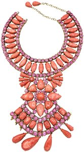 Andrew GN Andrew Gn pink bib collar necklace