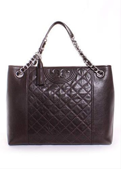 Tory Burch Mahogany Fleming Leather Tote in Dark Brown Image 3