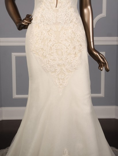 Ines Di Santo Chic Alencon Lace Sexy Wedding Dress Size 10 (M) Image 2