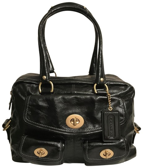 Preload https://img-static.tradesy.com/item/25859461/coach-bleecker-large-limited-edition-legacy-peyton-street-f13051-black-gold-patent-leather-satchel-0-1-540-540.jpg