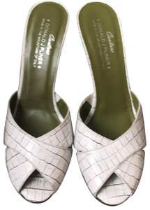 Donald J. Pliner Mule Made In Italy white Pumps