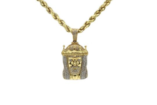 Preload https://img-static.tradesy.com/item/25859493/2166-14k-yellow-gold-cz-jesus-pendant-with-hollow-rope-chain-necklace-0-1-540-540.jpg