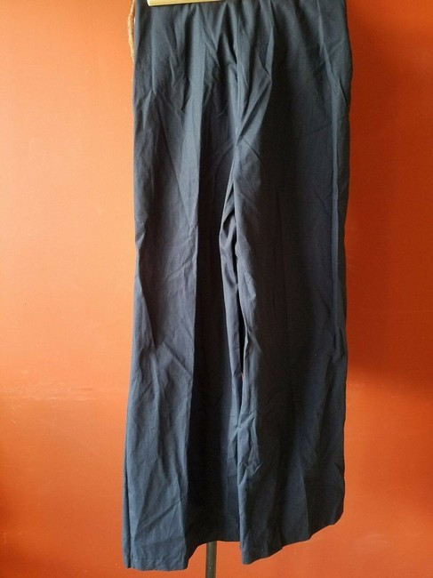 zara Relaxed Pants Blue Image 1
