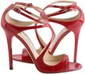 Jimmy Choo Patent Lance red Sandals Image 0