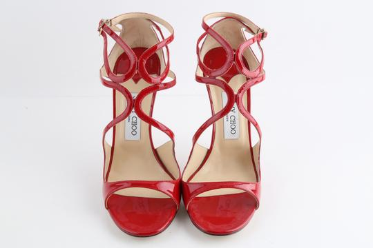 Jimmy Choo Patent Lance red Sandals Image 2