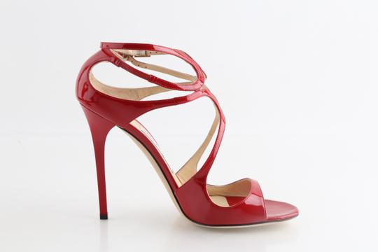 Jimmy Choo Patent Lance red Sandals Image 4